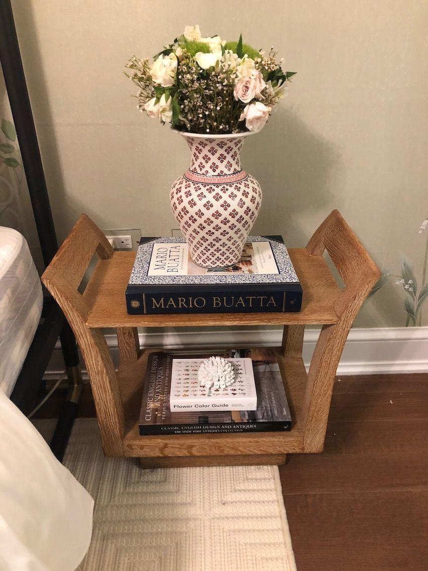 Vintage tables make fabulous nightstands.