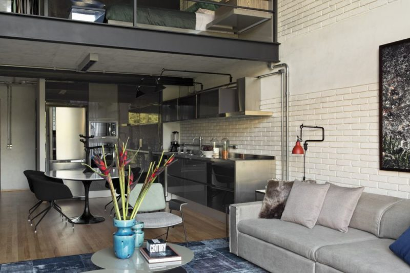 Modern Loft Remodel Puts The Spotlight On The Charcoal Gray Walls