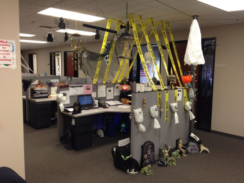 Fun And Spooky Halloween Office Decor Concept