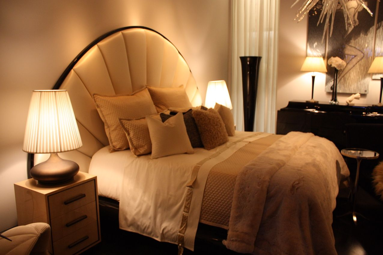 A headboard visually anchors the mattress.