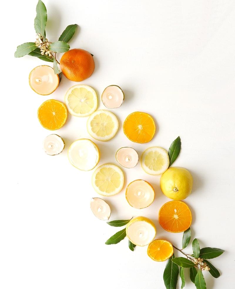 Citrus Candle Centerpiece