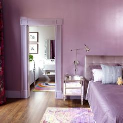 Compete bedroom in levender color