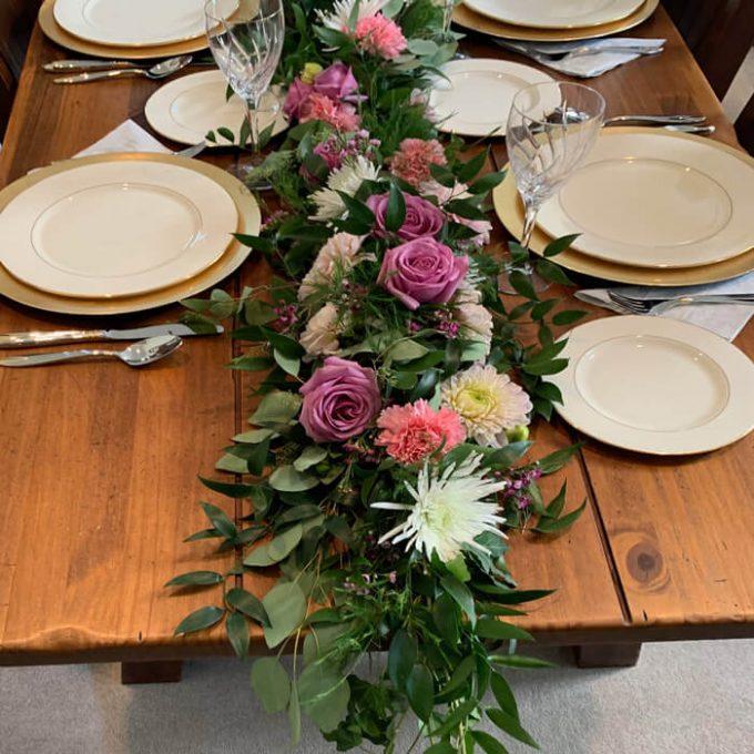 DIY Greenery Table Runner