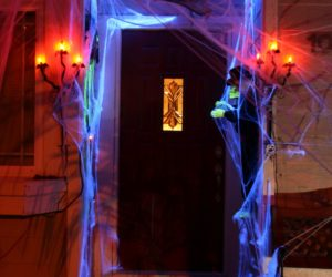 Spooky, Scary and Fun Halloween Door Decoration Concept