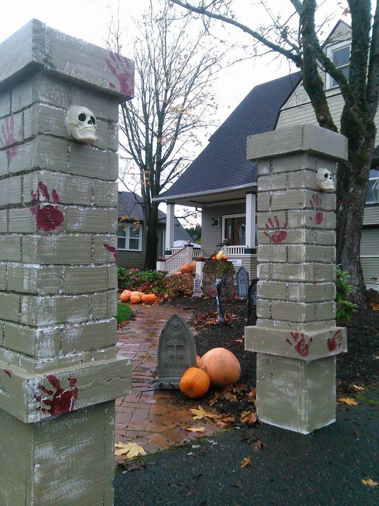 Cemetery Entry Pillars