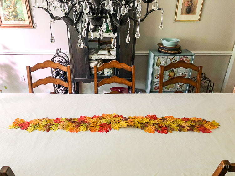 Faux Leaf Fall Table Runner