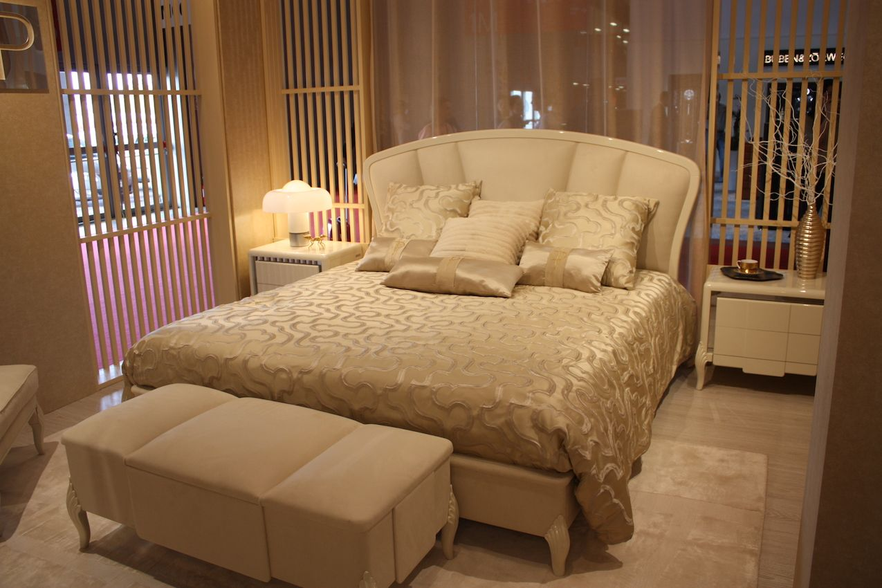 The bed, and especially the mattress, are the most important items in the room.