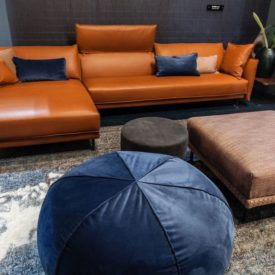 Modern Brown L shaped sofa