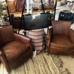 Classic leather furniture is durable and always in style.