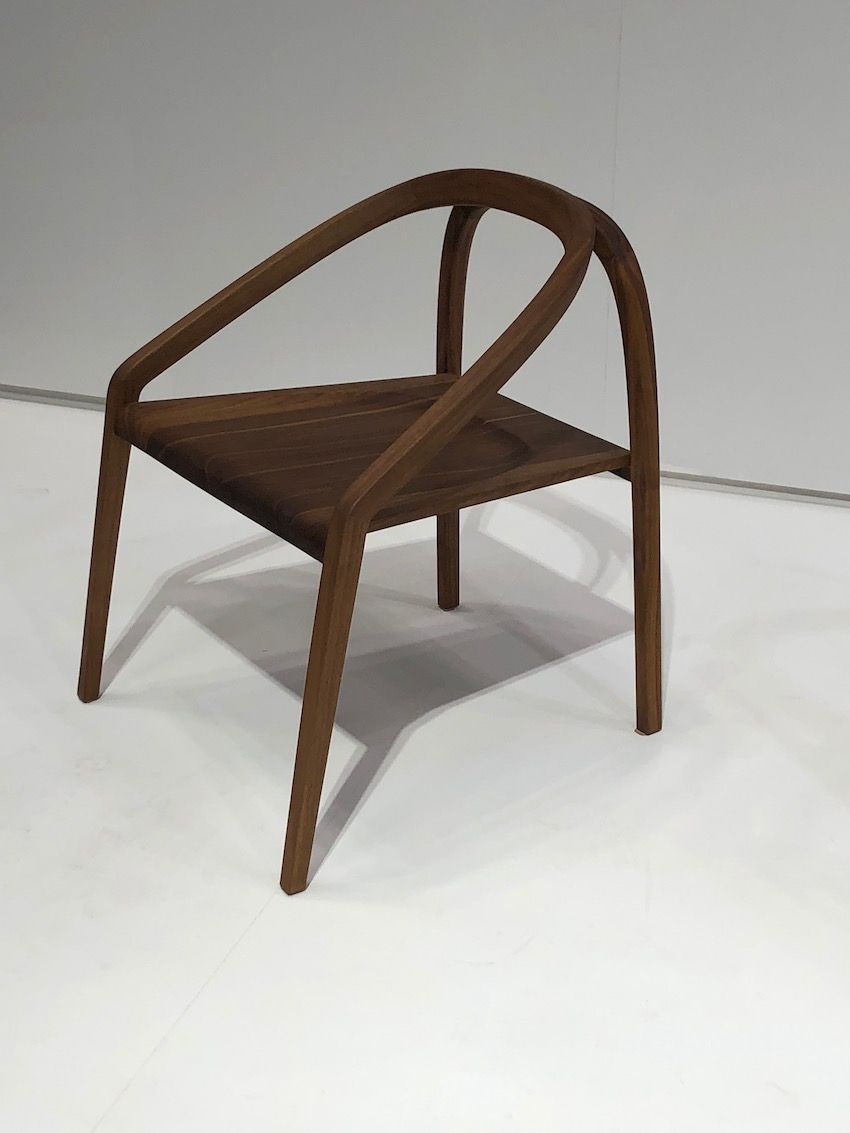 Simple lines get a new treatment in this beautiful wood chair.