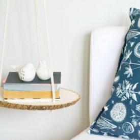 Nighstand bed handing shelf