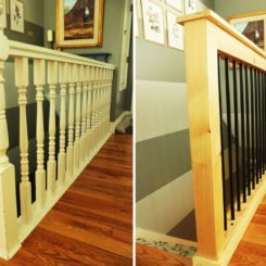 Old stair railing to an industrial design