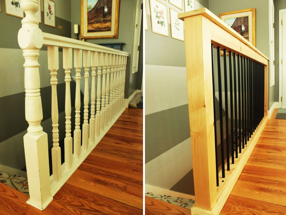 How To Give Your Old Stair Railings A Fresh New Look On A ...