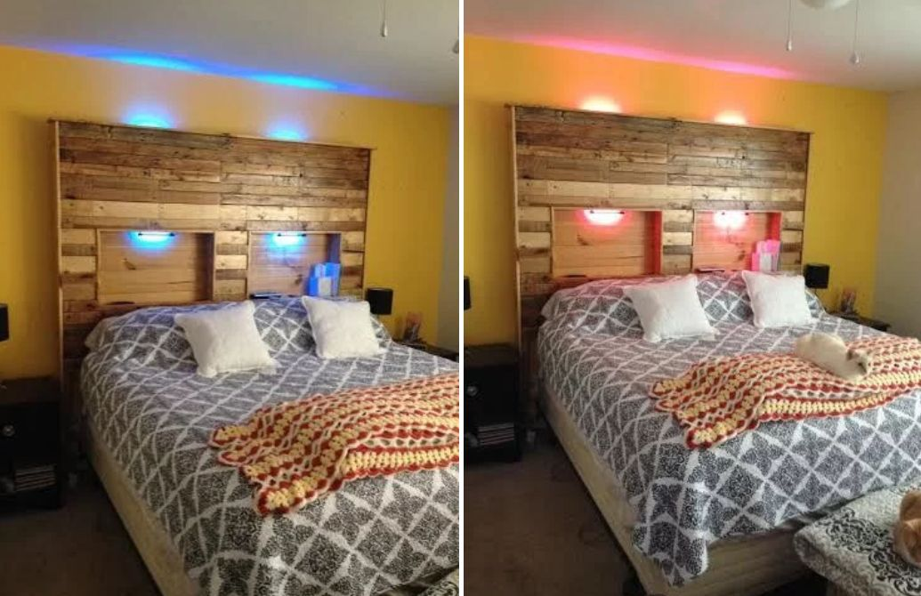 how to build a pallet bed from scratch 10 different methods. Black Bedroom Furniture Sets. Home Design Ideas