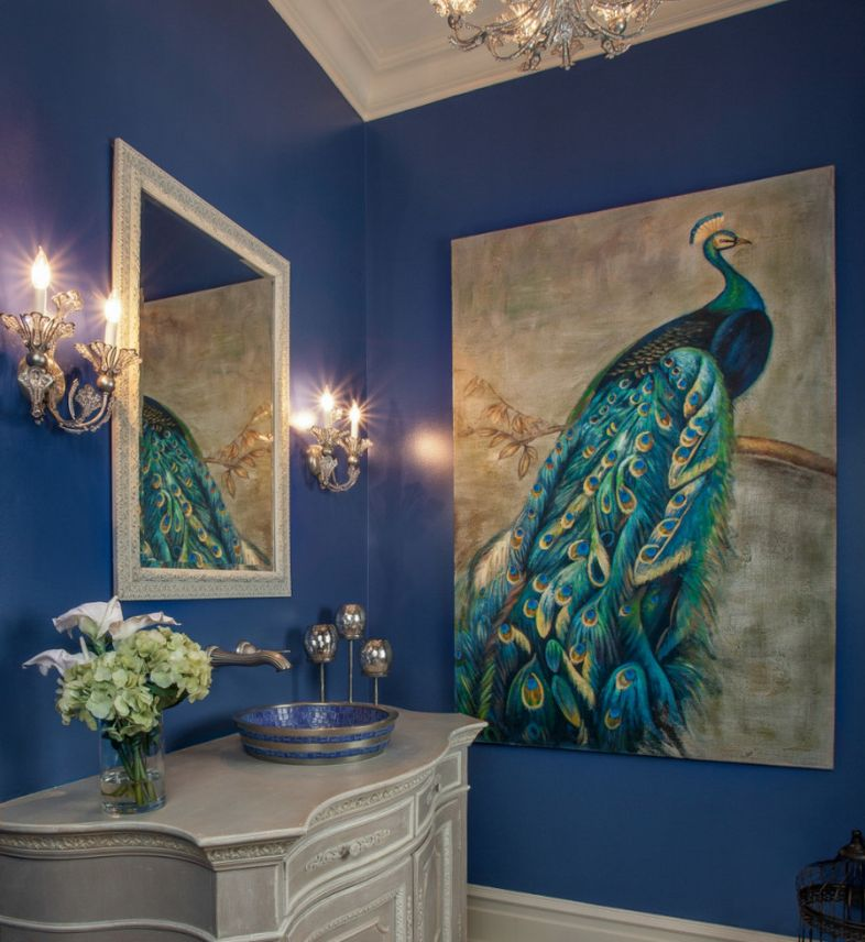 10 ways to decorate with peacock blue - Ways to decorate bathroom ...
