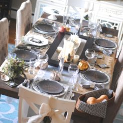 Rectangular Thanksgiving Table decor