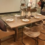 Rustic dining table decor decorated with candles