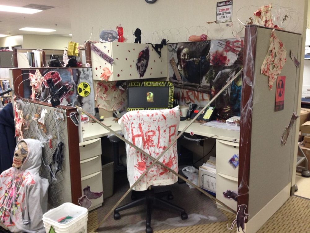 amusing halloween office decoration theme ideas | Fun And Spooky Halloween Office Decor Ideas