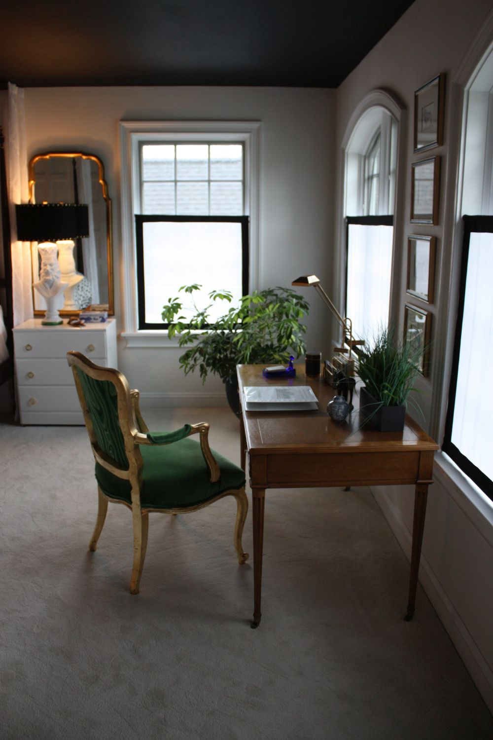 A desk or seating area in the bedroom is very handy and relaxing.