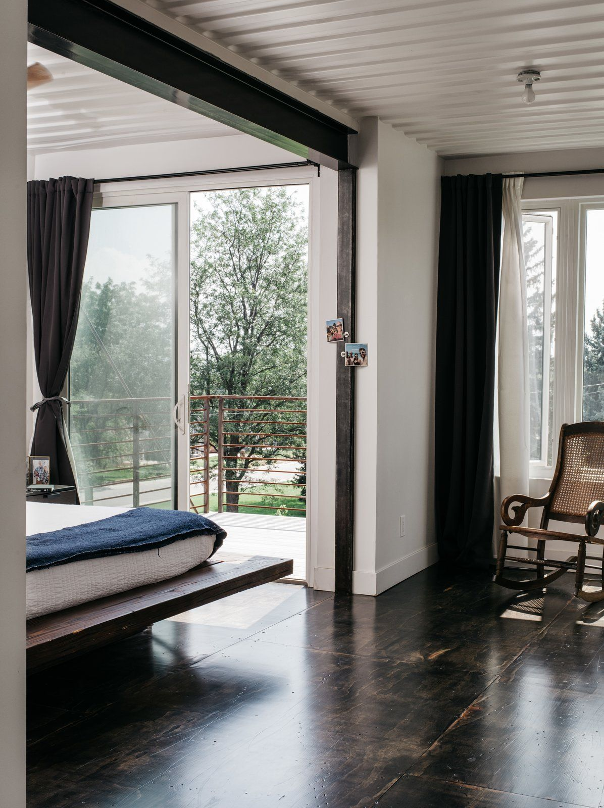 The bedrooms have separate open balconies and sliding doors