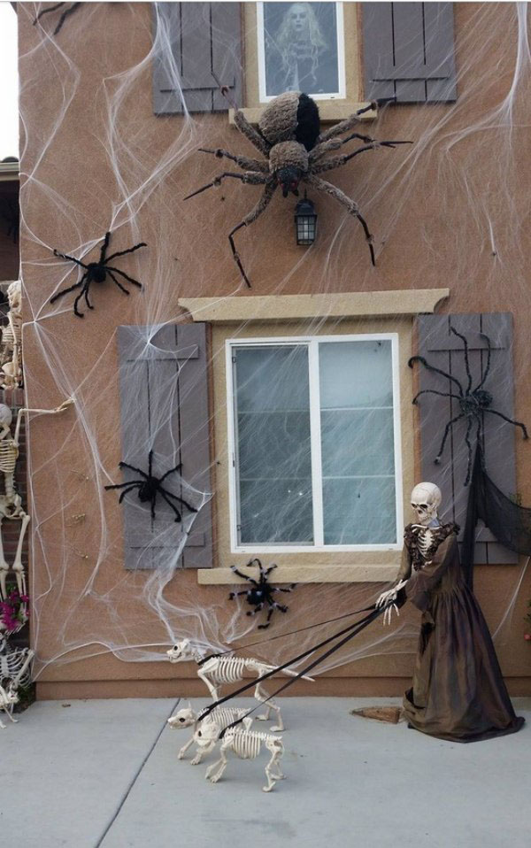 Spiders and Skeleton dogs