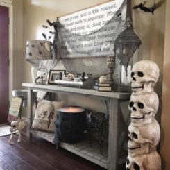 Stacked skull decor