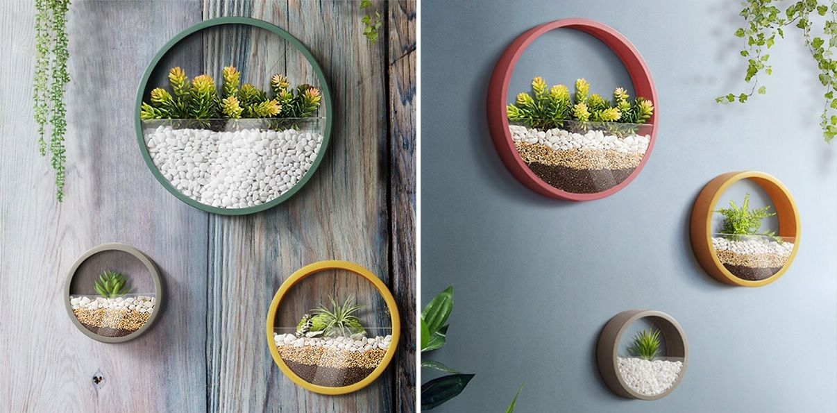 Round planters by Apollo