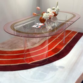 Track Glass Table from An Aesthetic design