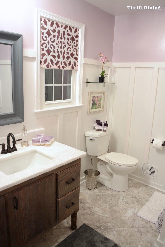 A Pretty Lavender Bathroom