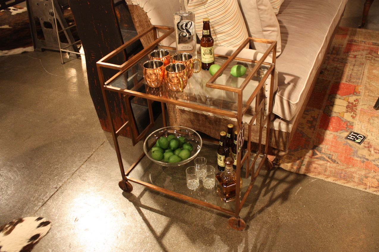 This HT&D bar cart is casual and super functional.
