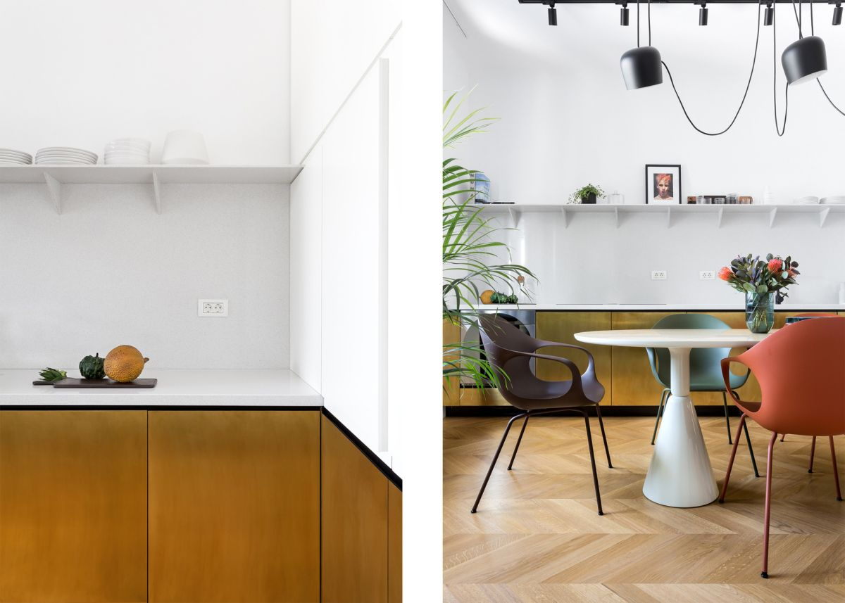 The dining area is no longer a separate room but rather a built-in kitchen feature