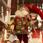 An elf-like Santa has old-fashioned charm.