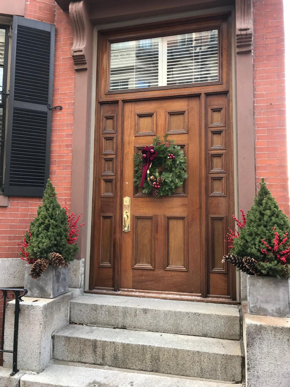 Green wreaths are super popular around Christmas which means you shouldn't have any trouble finding one