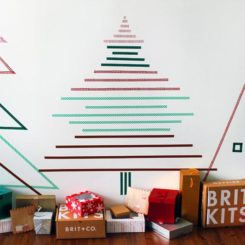 Christmas Wall Trees Using Nothing But Tape