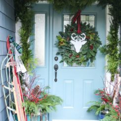 Classic Christmas Front Porch Decor