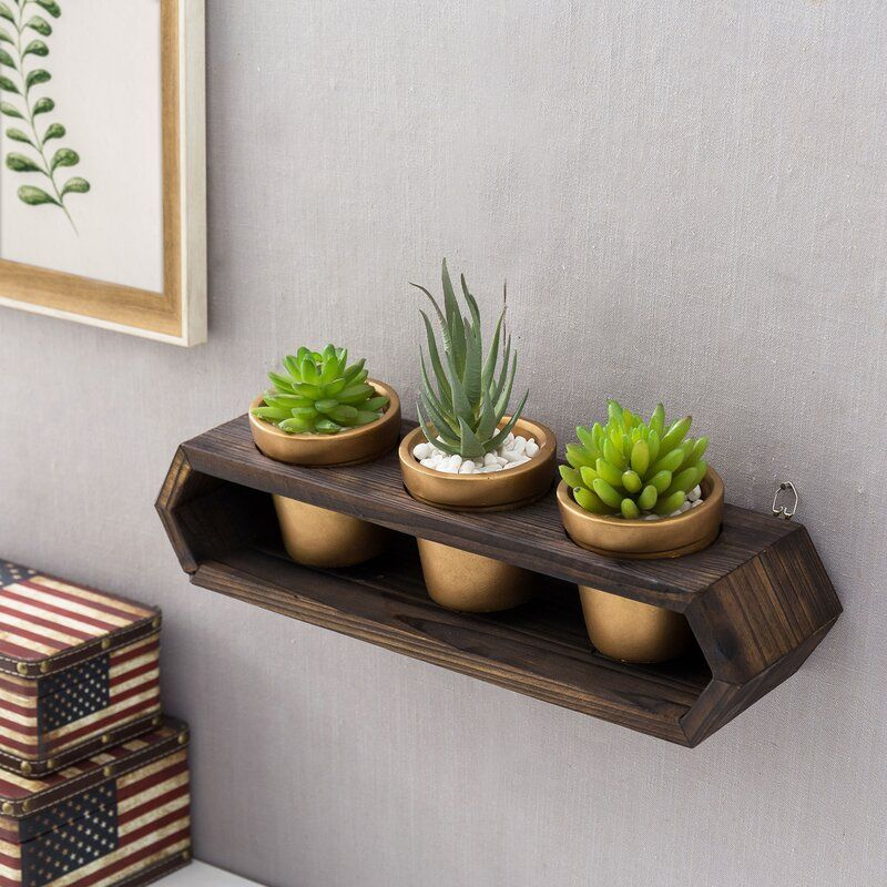Concrete and wood planter combo