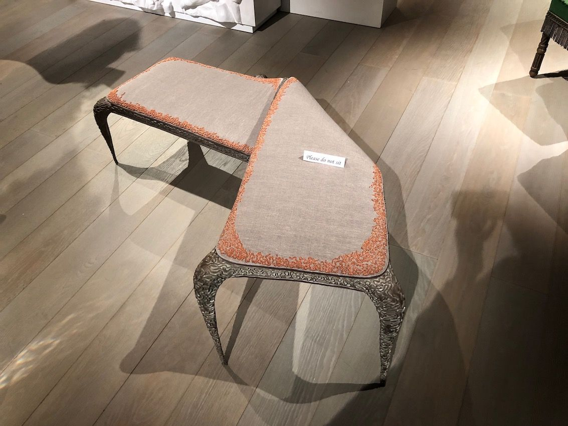 Deconstructive versions of basic furnishings are dramatic and unexpected.