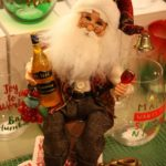 A Santa with wine is good party decor.
