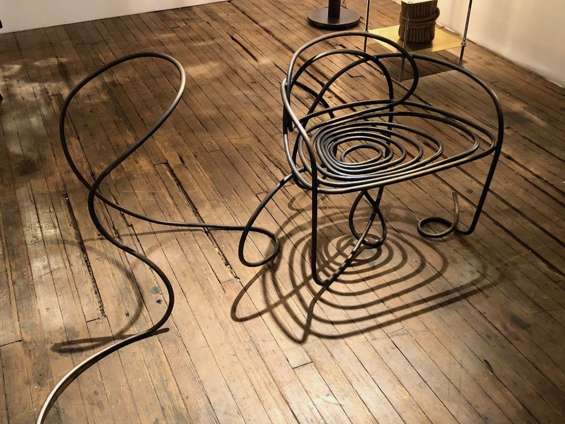A single line can become an intricate chair design.
