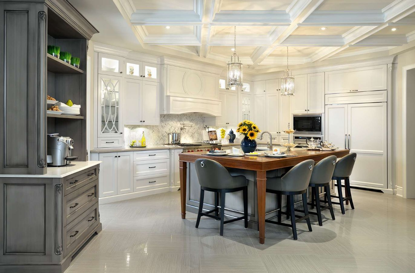 How To Successfully Integrate A Coffered Ceiling Into A Room's ...