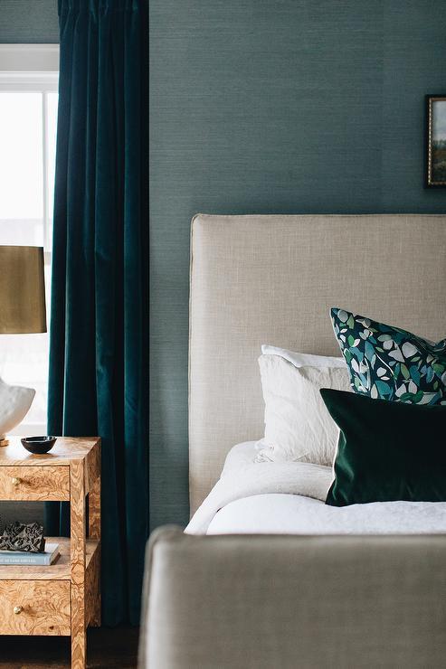 Hang Peacock Blue Curtains