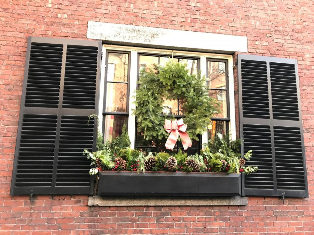 Christmas wreaths look lovely not just on doors but on windows too