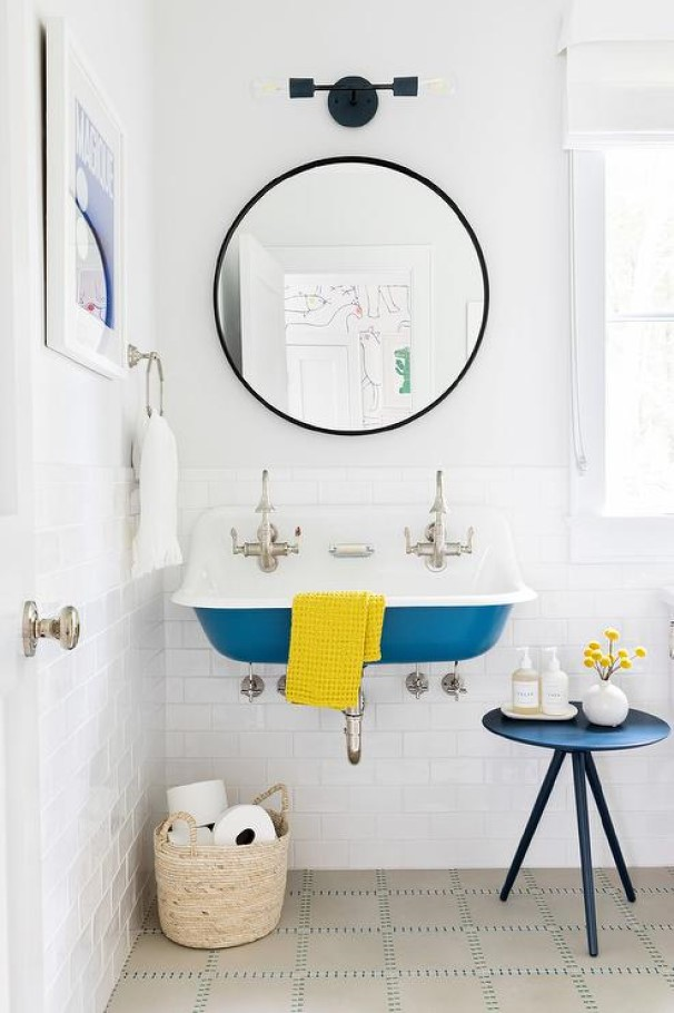Install A Peacock Blue Sink