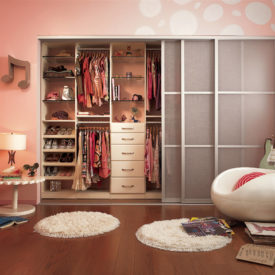 Kids closet installed drawers
