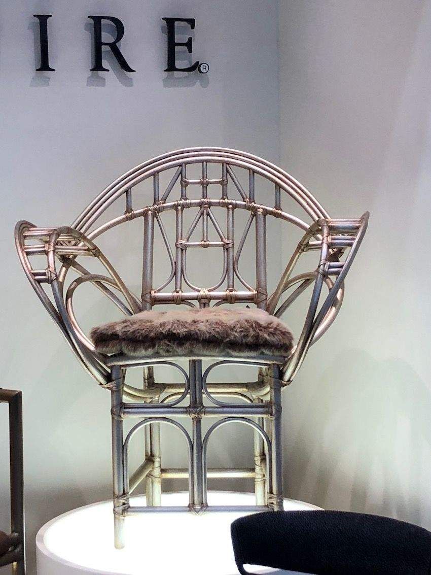 The design of this chair is lithe and regal, especially with its metallic finish.