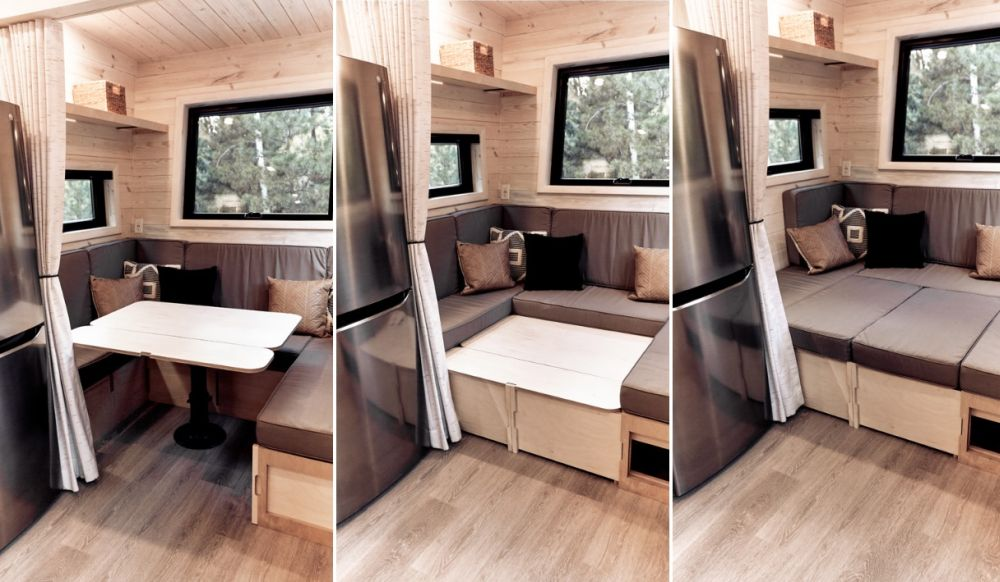 As you see, looks and comfort are just as important and coexist in harmony in every nook and cranny of this luxury RV