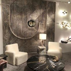 A large wall panel makes a strong design statement.