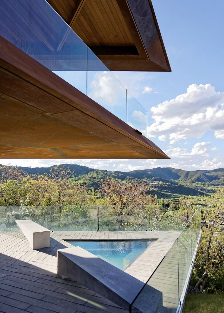The connection between the house and the rugged landscape surrounding it is a very strong one