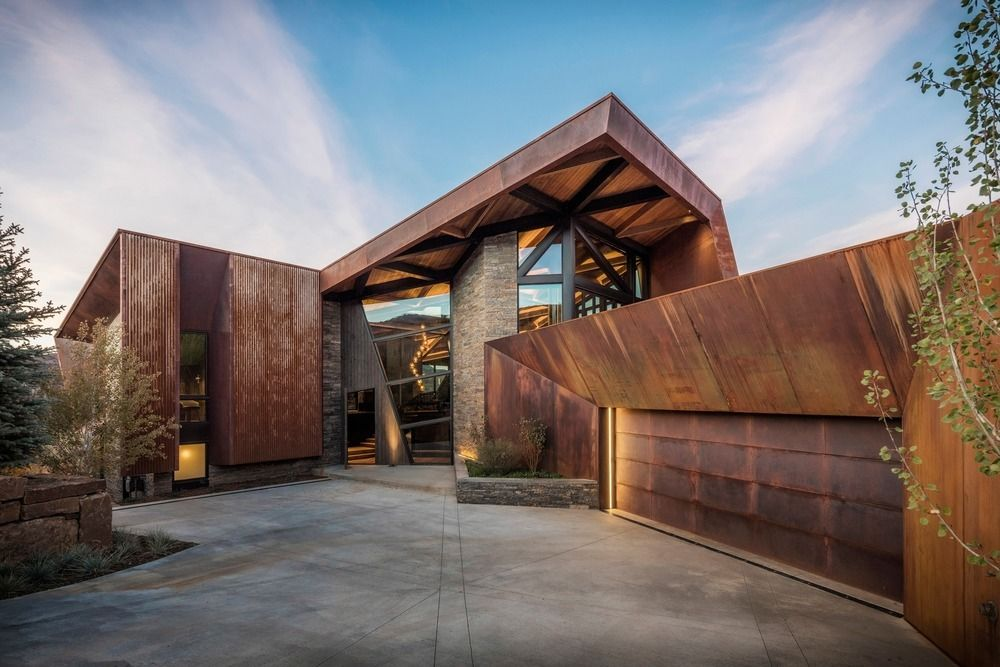 A Corten Steel Mountain Retreat Tames The Rugged Colorado Landscape