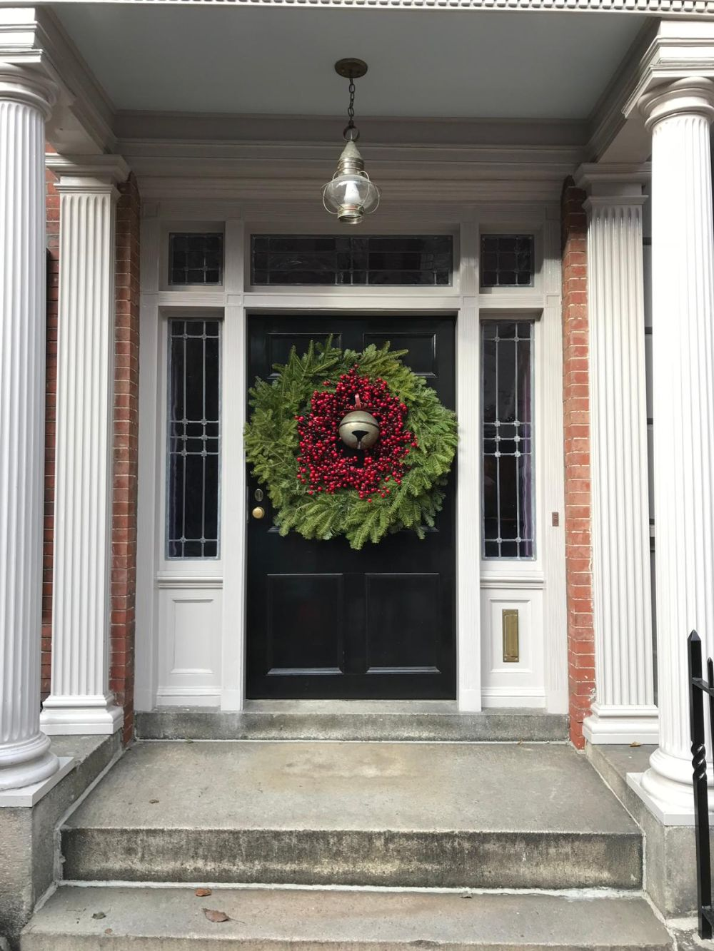 The wreath can be as small or as big as you want...just make sure it fits the door